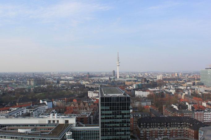 auf dem Michel - Blick über die Stadt