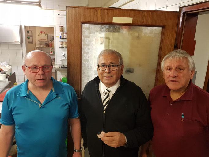 v.l.: Erich Edinger, Hubert Pfeiffer, Rudolf Weiss
