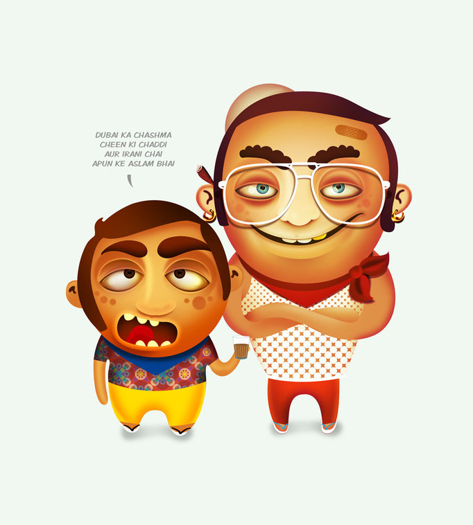 Mumbai Bhai. Art Director : Raju Kulkarni, Illustration : Me.