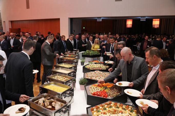 Dänische Spezialitäten standen auf der Speisekarte, als Hommage an das diesjährige Gastland.