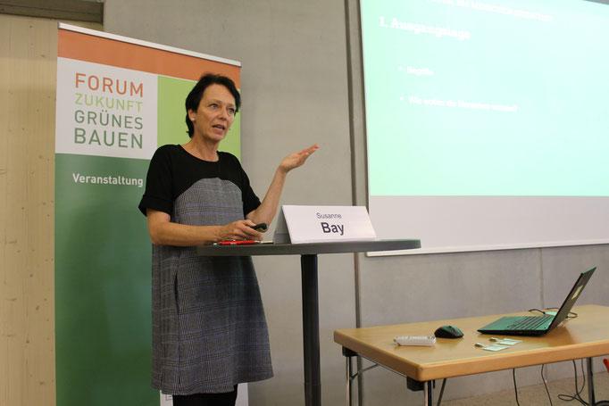 Susanne Bay, wohnungspolitische Sprecherin der Fraktion Bündnis 90/Die Grünen im Forum Zukunft grünes Bauen.