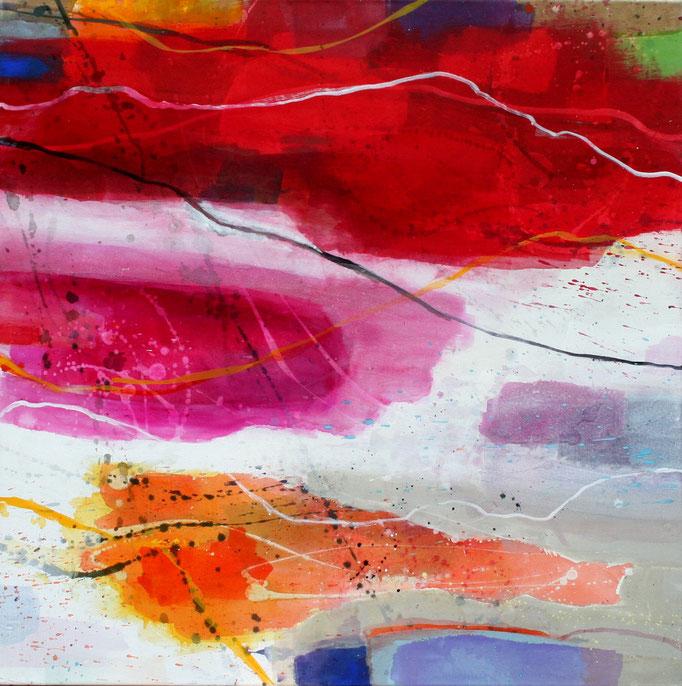 100cm x 100 cm Acryl auf Leinwand