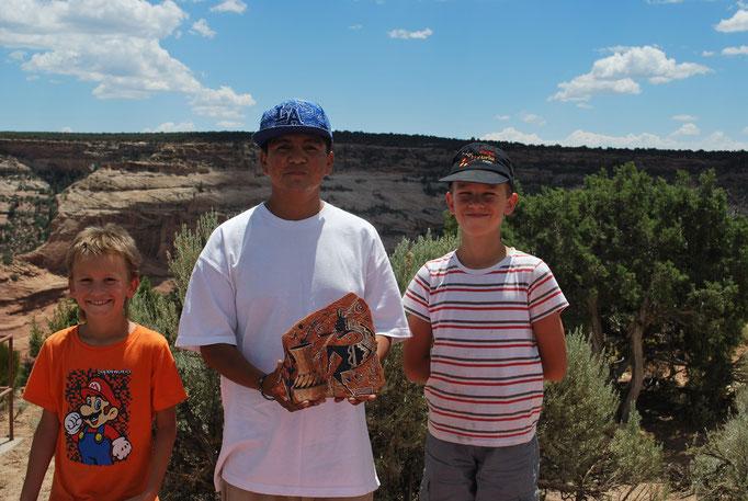 Art navajo sur pierre de sable