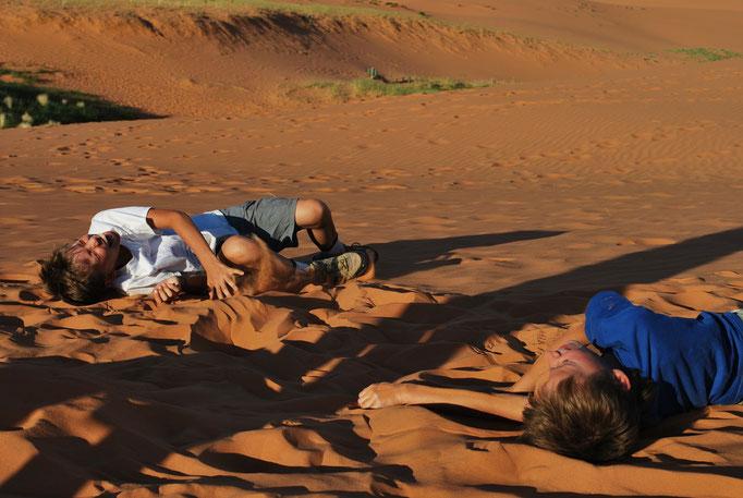 Pink sand dunes ou le fou-rire du voyage!