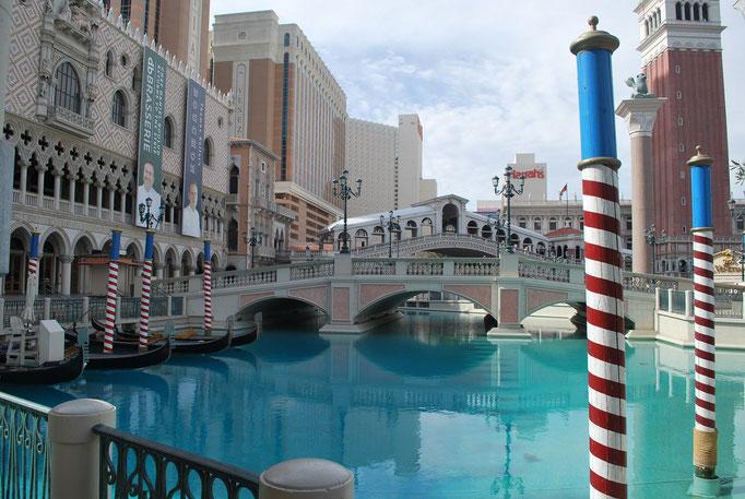 Visite de Las Vegas où nous avons atterri. Ici le Venice