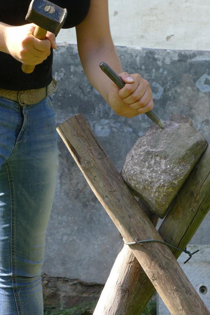 Steinbearbeitung Porphyr
