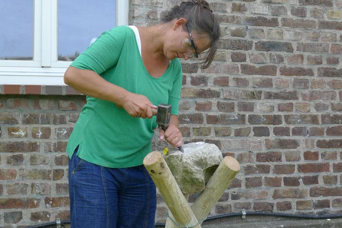 Steinbearbeitung Kalkstein