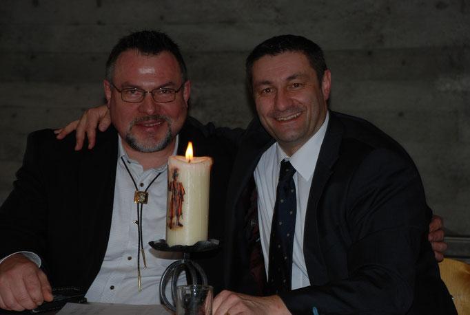 Der neue Präsident und der Ehrenpräsident: Bernhard Carlen und Thomas Mächler