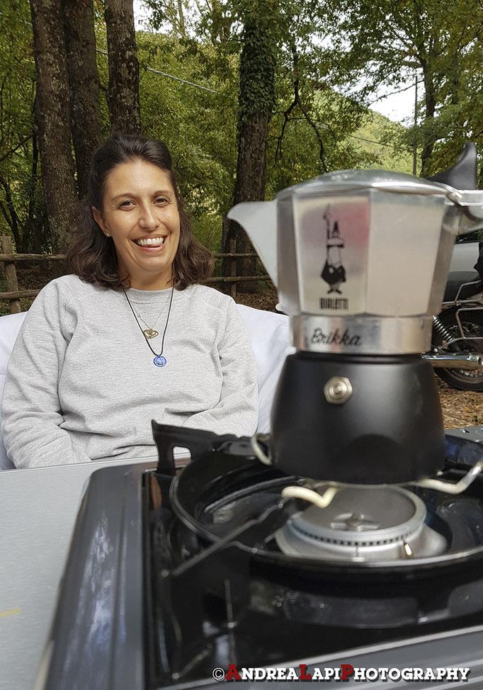 Dopo la pasta al sugo... caffeino con la super Brikka!!!