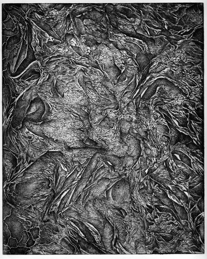 L'Extinction - eau forte - 25 x 20 cm - 2013