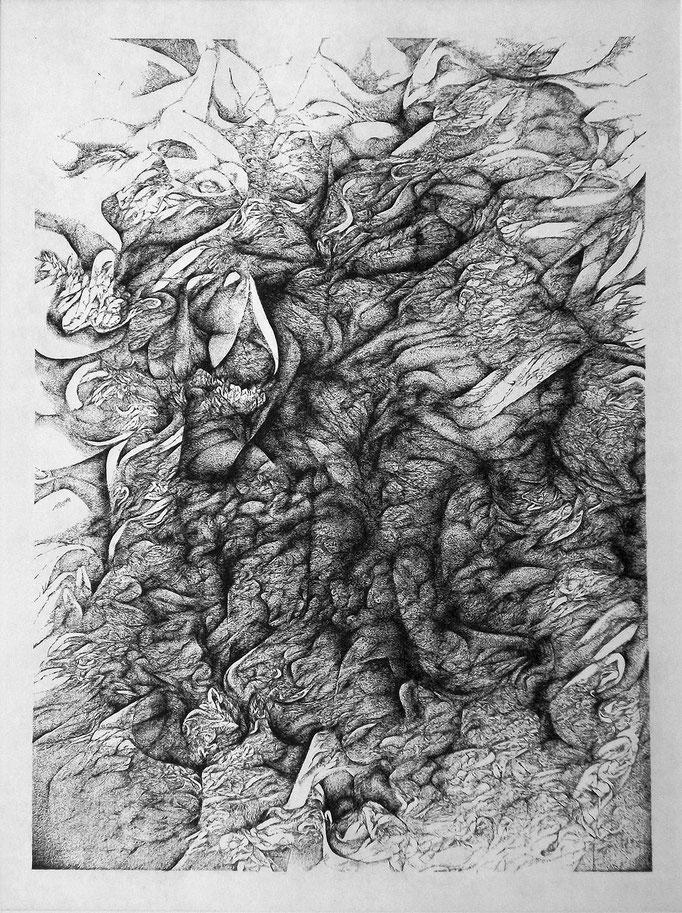Incassables - eau forte - 40 x 30 cm - 2015