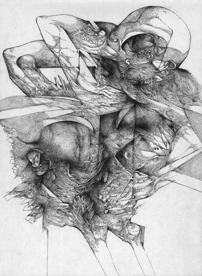 Défaut de Mémoire - mine de plomb sur papier - 42 x 30 cm - 2015