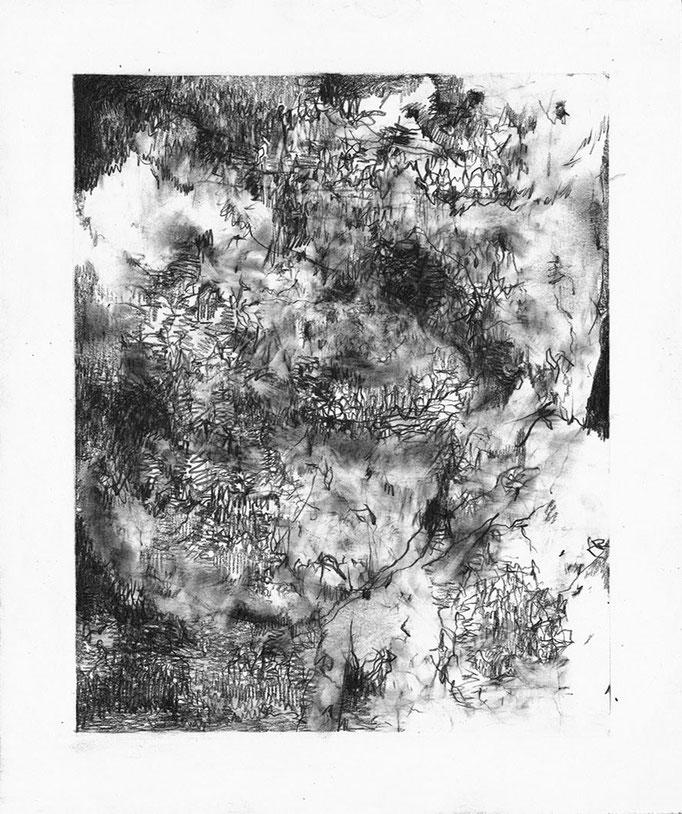 Seuls Demeurent I - graphite on paper - 21 x 18 cm - 2021