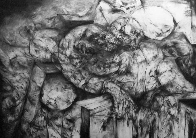 Le Reflet - fusain sur papier - 70 x 100 cm - 2015