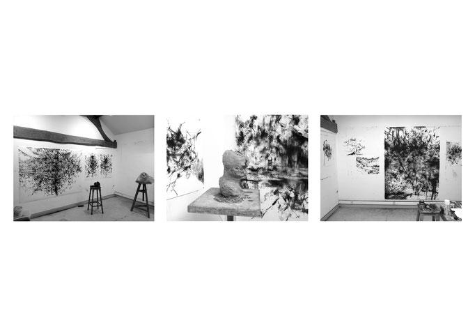Vues d'atelier - Fondation Dufraine - 2018