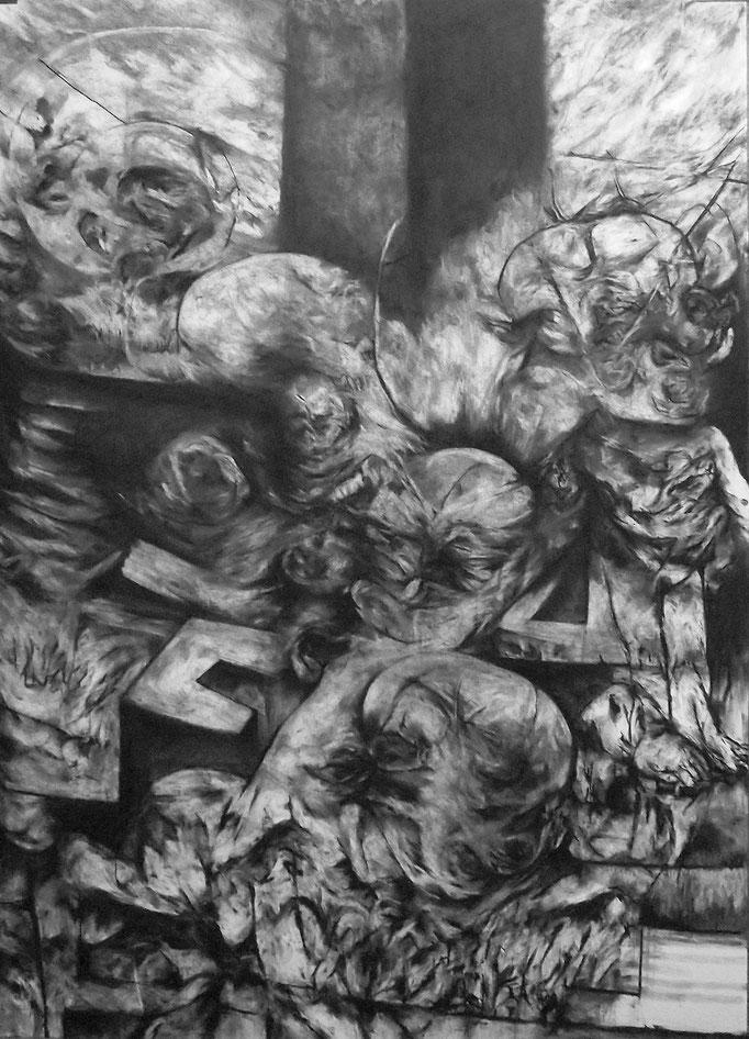 L'Ancre - fusain sur papier - 100 x 70 cm - 2015