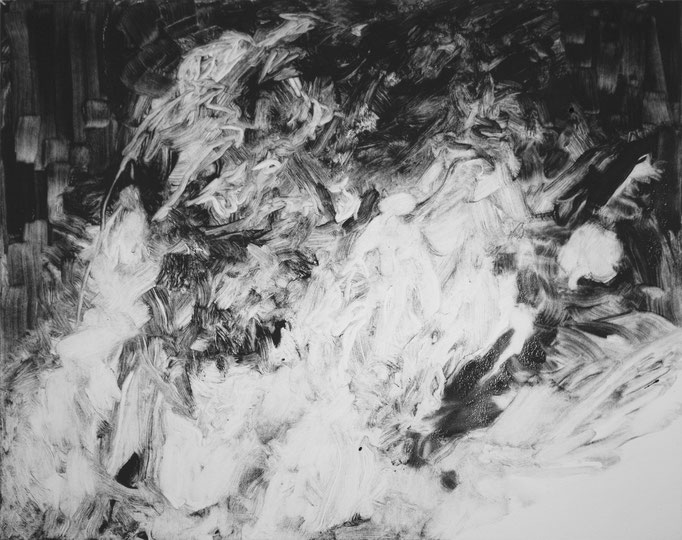 No More Time Out II - monotype - 40 x 50 cm - 2020