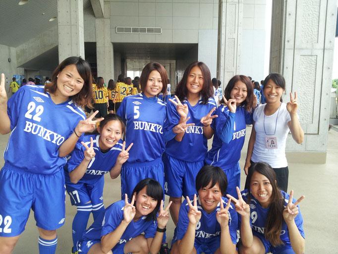 8月25日 関東大学女子サッカーリーグ 開会式(熊谷)