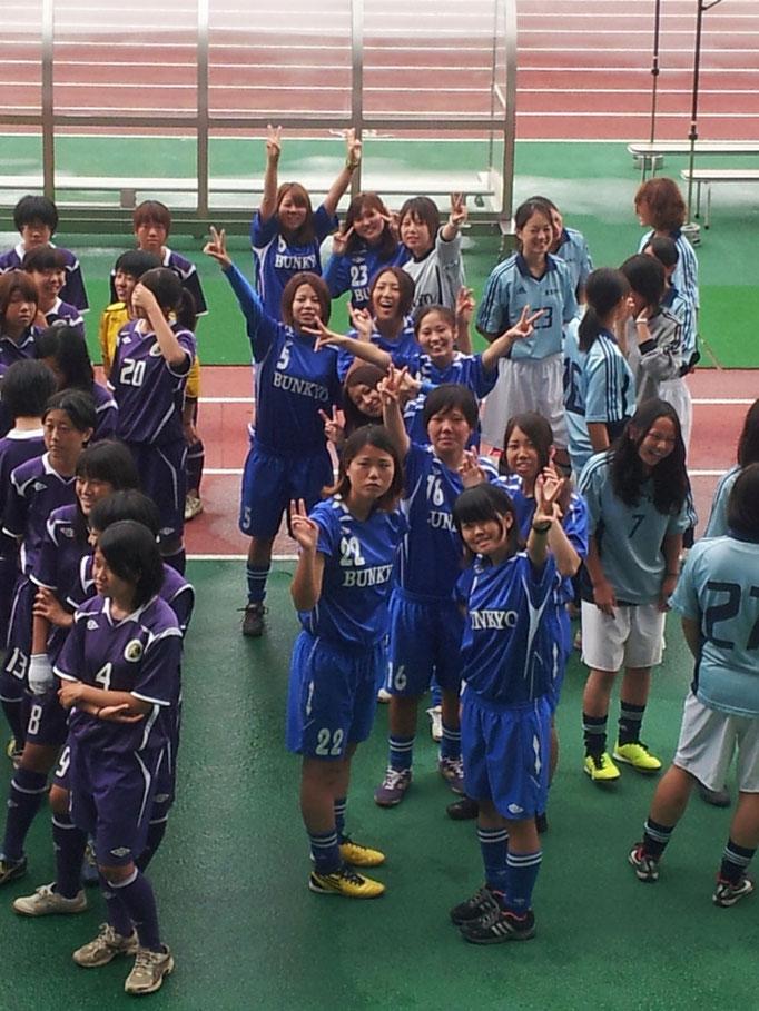 関東大学女子サッカーリーグ 開会式(熊谷)