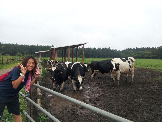 夏合宿最終日は牧場に行ったよ(^o^)/