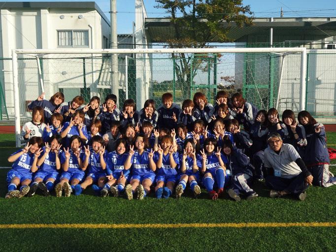 11月4日 関東女子サッカーリーグ順位決定戦&引退 集合写真☆