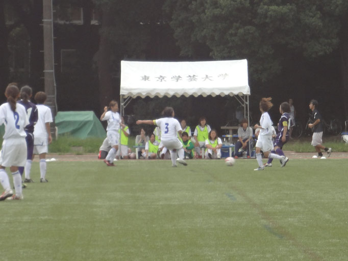 9月15日 関東女子サッカーリーグ③vs東京学芸大学