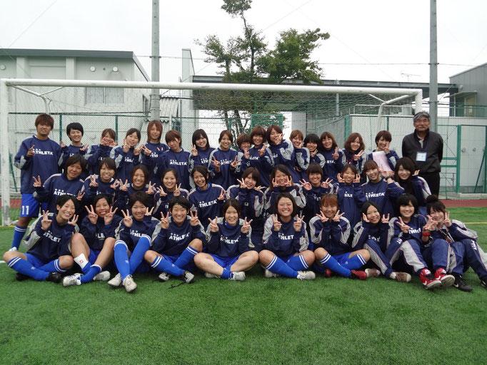 10月14日 関東女子サッカーリーグ⑥vs千葉大学 集合写真☆