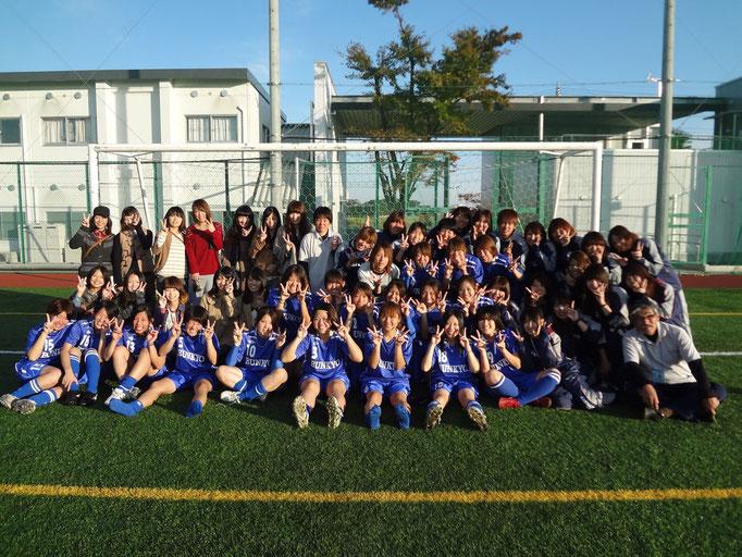 11月4日 関東女子サッカーリーグ順位決定戦&引退 応援きてくださった先輩たちと☆
