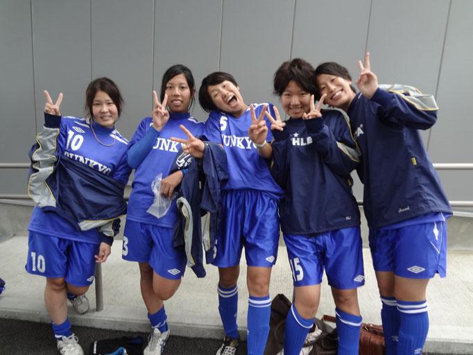 10月14日 関東女子サッカーリーグ⑥vs千葉大学 4年生☆