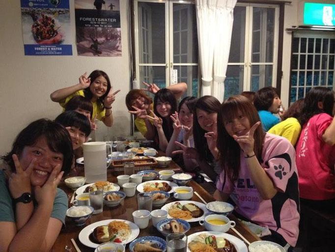 8月20日~ 尾瀬合宿 ご飯とてもおいしかったです!
