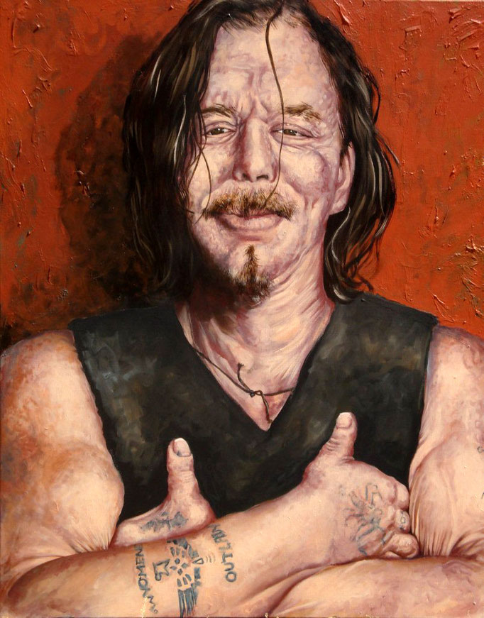 Gemälde  384 Mickey Rourke ,2010, Acryl auf Leinwand 80 x 100 cm
