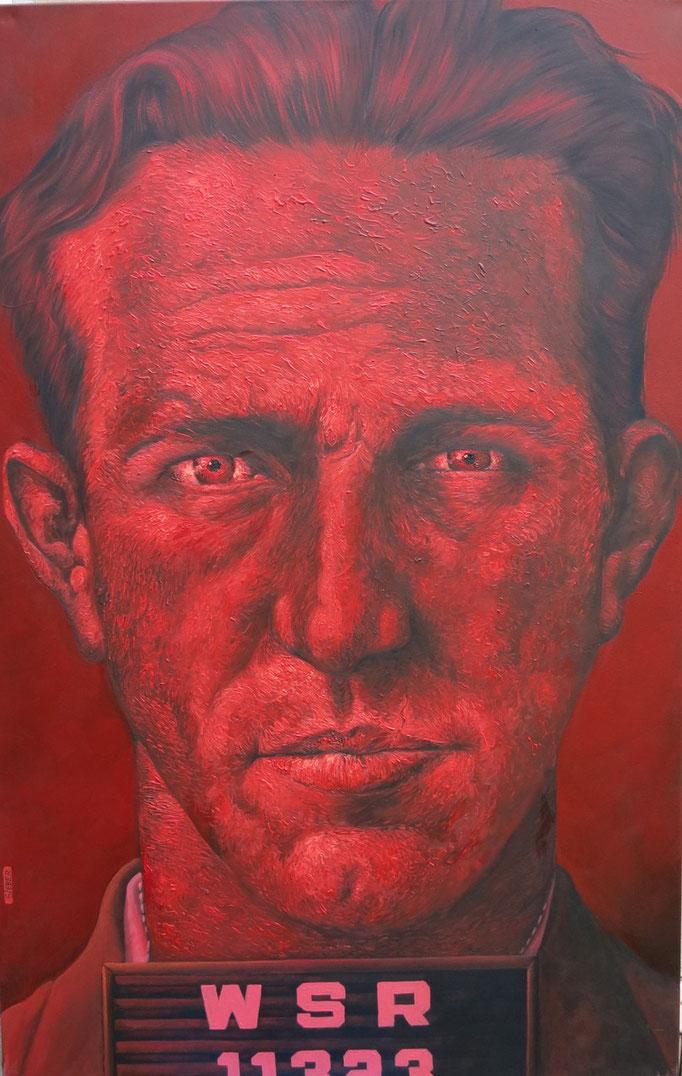 Gemälde  462 Red Rage Vol. 1,  Acryl auf Leinwand,2014,  90 x 140 cm