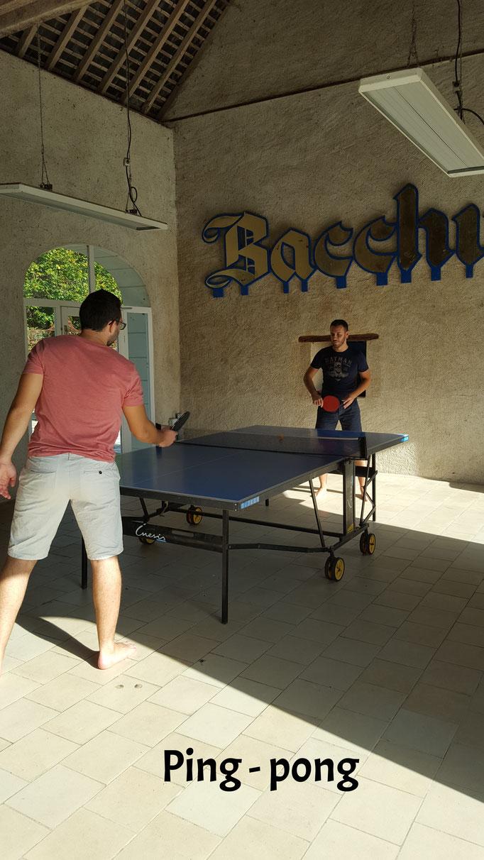 Ping pong au Moulin de Bacchus