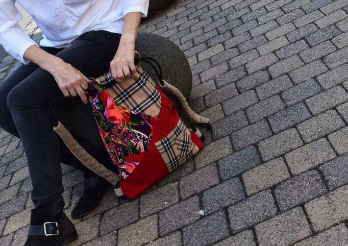 Upcycling Rucksack von Birgit Larcher
