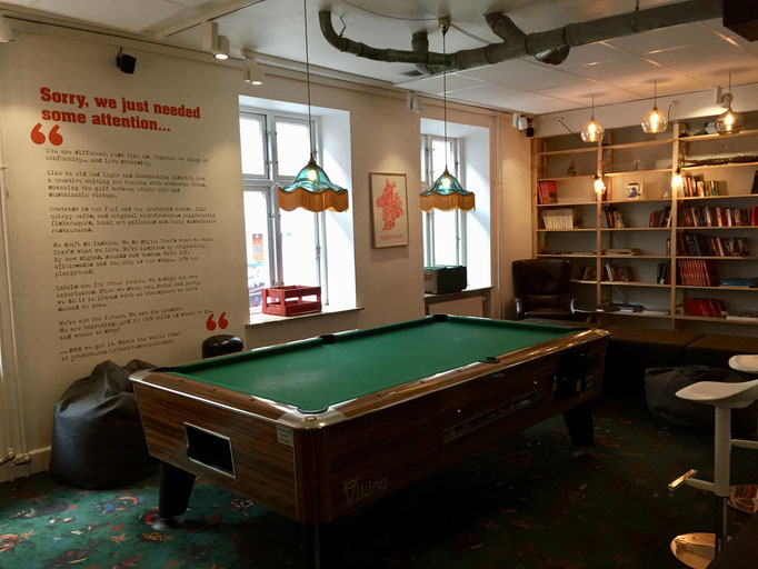 game room pool table urban house