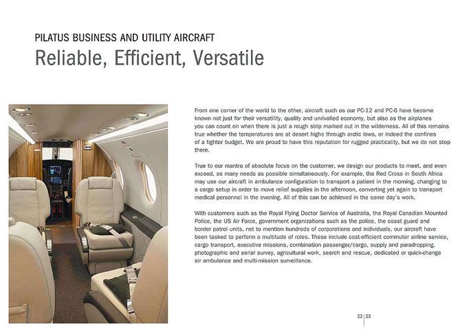 Pilatus Aircraft Ltd. PC-12 Broschüre 2009