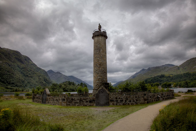 Glenfinnan, Bonnie Prince Charles Monument, Loch Shiel