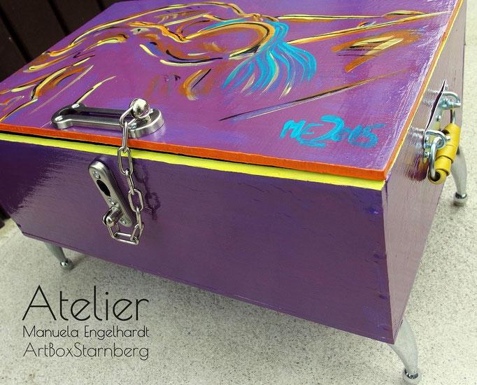 Modern Vintage - Außergewöhnliche Truhe - Atelier ArtBoxStarnberg, Manuela Engelhardt
