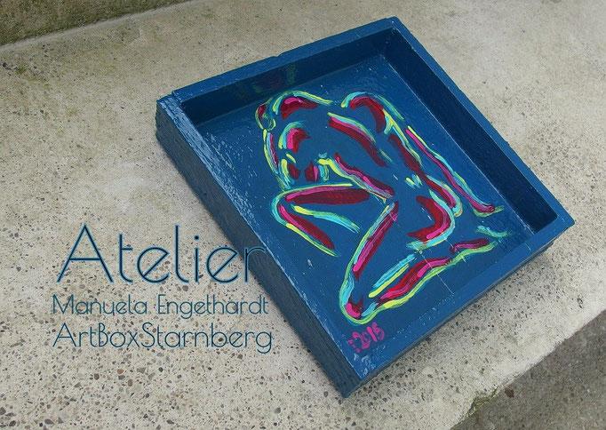 Handbemaltes Dekotablett - Atelier ArtBoxStarnberg, Manuela Engelhardt