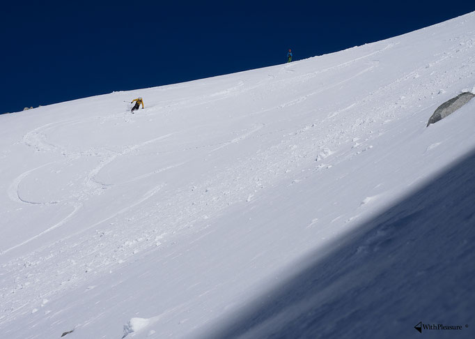 Lukas beim telemarken - Oberalpstock