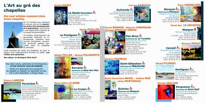 """Dépliant exposition """"L'Art au gré des Chapelles"""""""