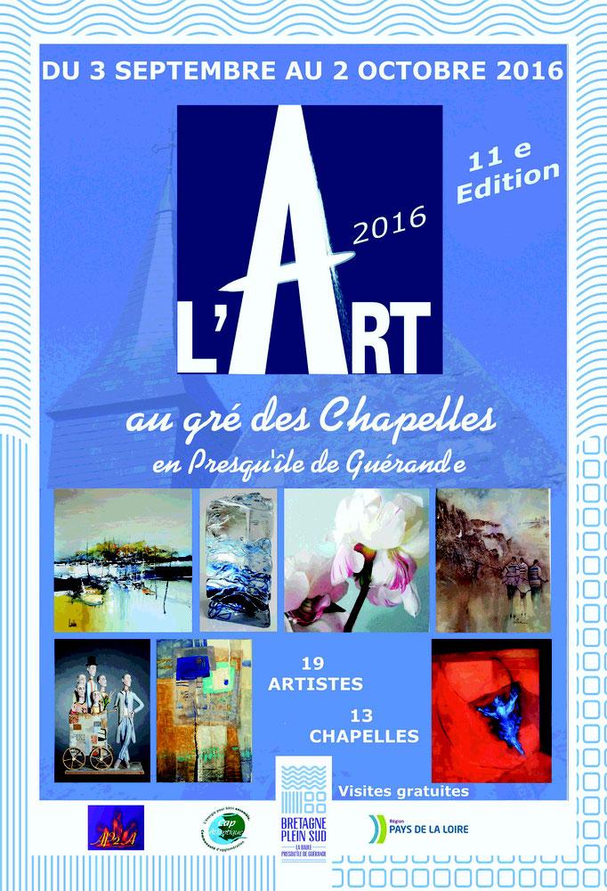 """Affiche exposition """"L'Art au gré des Chapelles"""""""