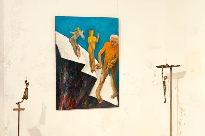 """""""Quo vadis?"""", 100x85 Metallskulpturen Peter Glas"""