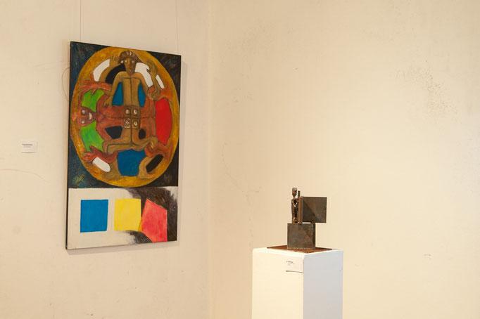 """""""Philosophie I"""", 100x70, Acryl, Metallskultur Peter Glas"""