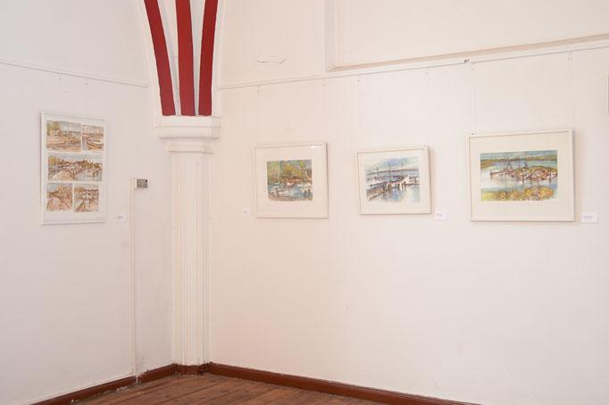 """""""Lassaner Landschaft"""" Mischtechnik, 2012 - 2014, 20x21"""