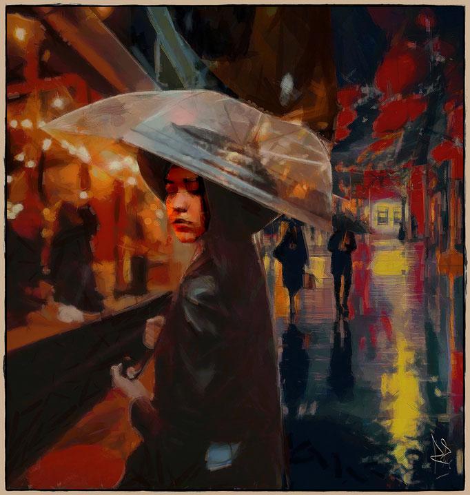 RAIN IN CHINA TOWN