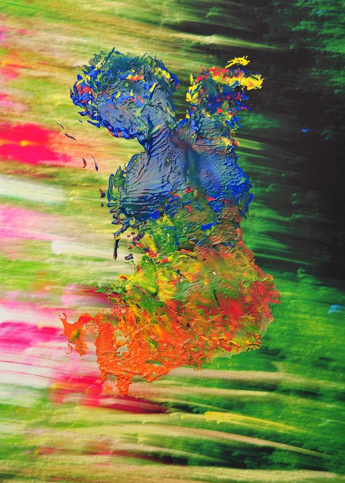 Foto: Andreas Ender, photo-art+painting | BODYpainting 2018 - Transferdruck | 50x70cm Unikat