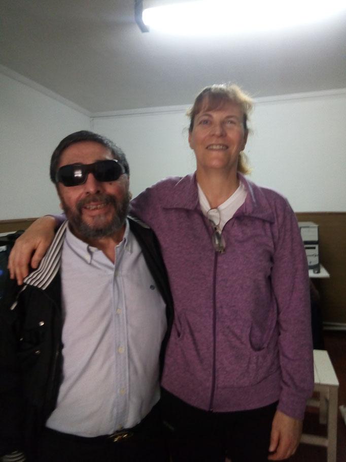 Con Amilcar Mendoza, presidente de APRONOVID