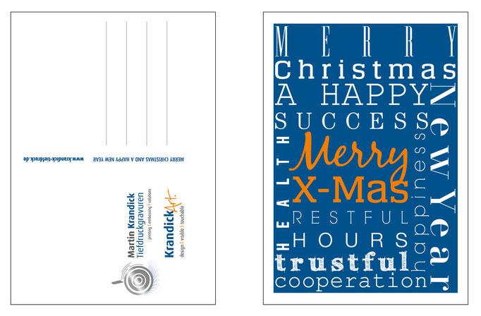 Gestaltung der Weihnachtskarten