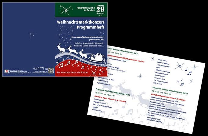 Programmheft für Weihnachtskonzert